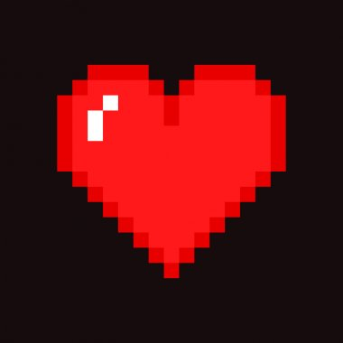 Pixel red Heart