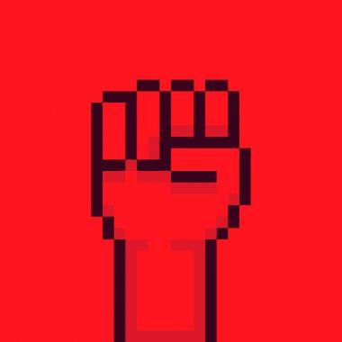 Pixel Rebel Hand