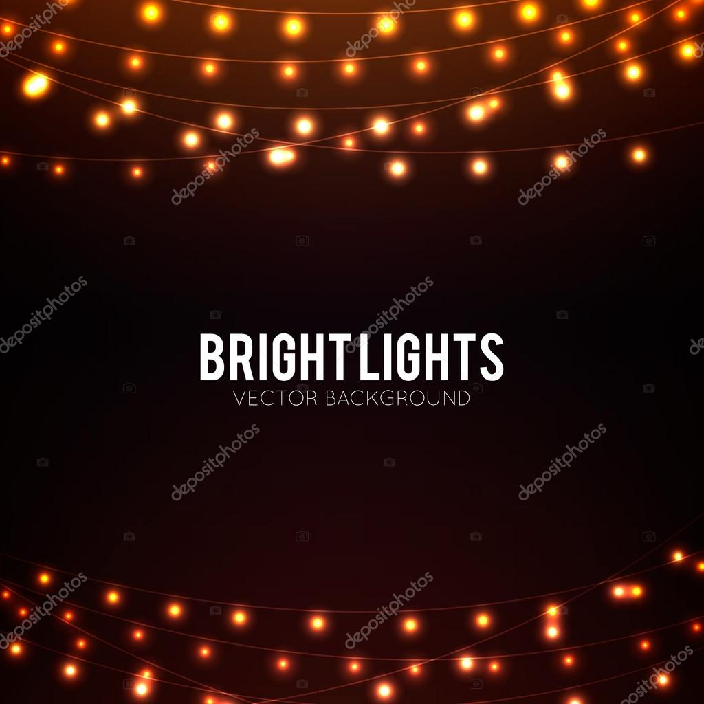 Golden glowing lights background
