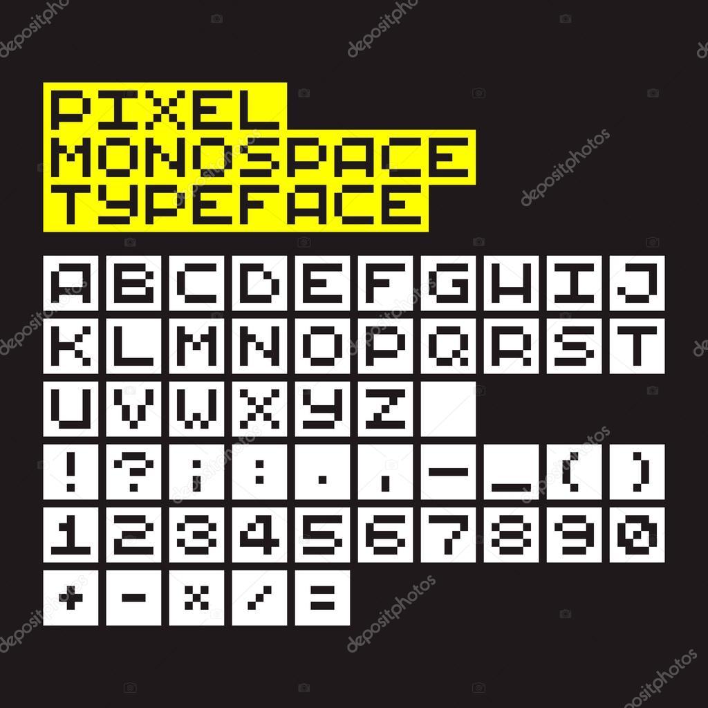 Pixel alphabet, font — Stock Vector © chuckchee #67149111