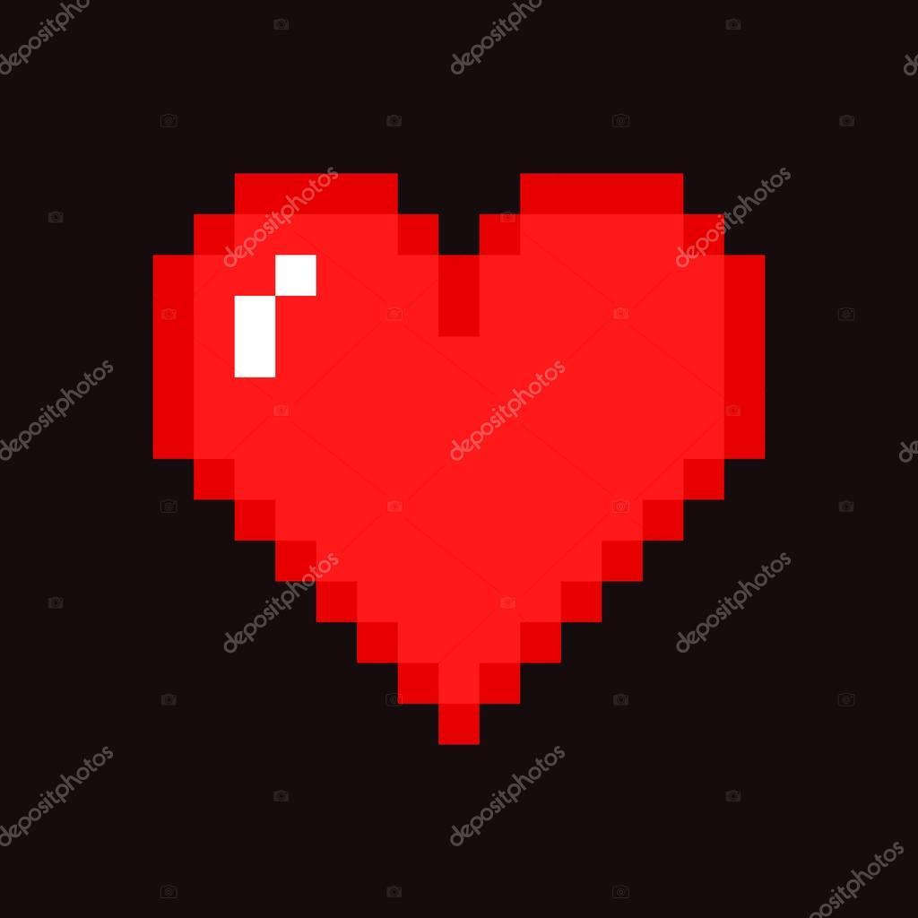 Vecteurs Pour Coeur De Pixel Illustrations Libres De Droits Pour Coeur De Pixel Depositphotos