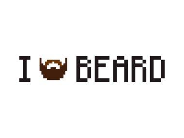 I Love Beard sign