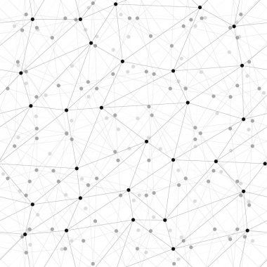 Dots with connections background