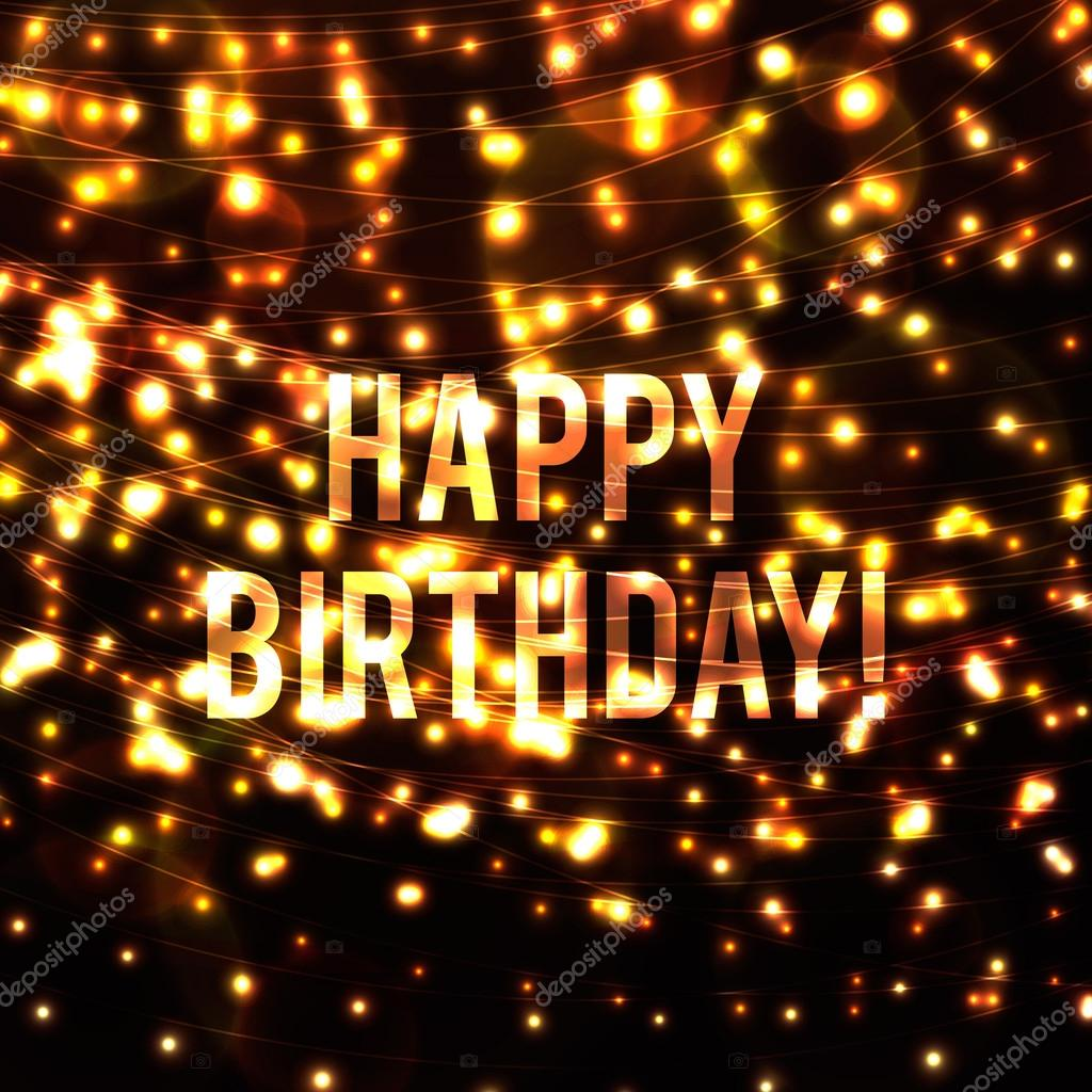 background with  happy birthday words
