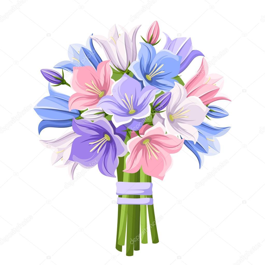 Букет цветов вектор