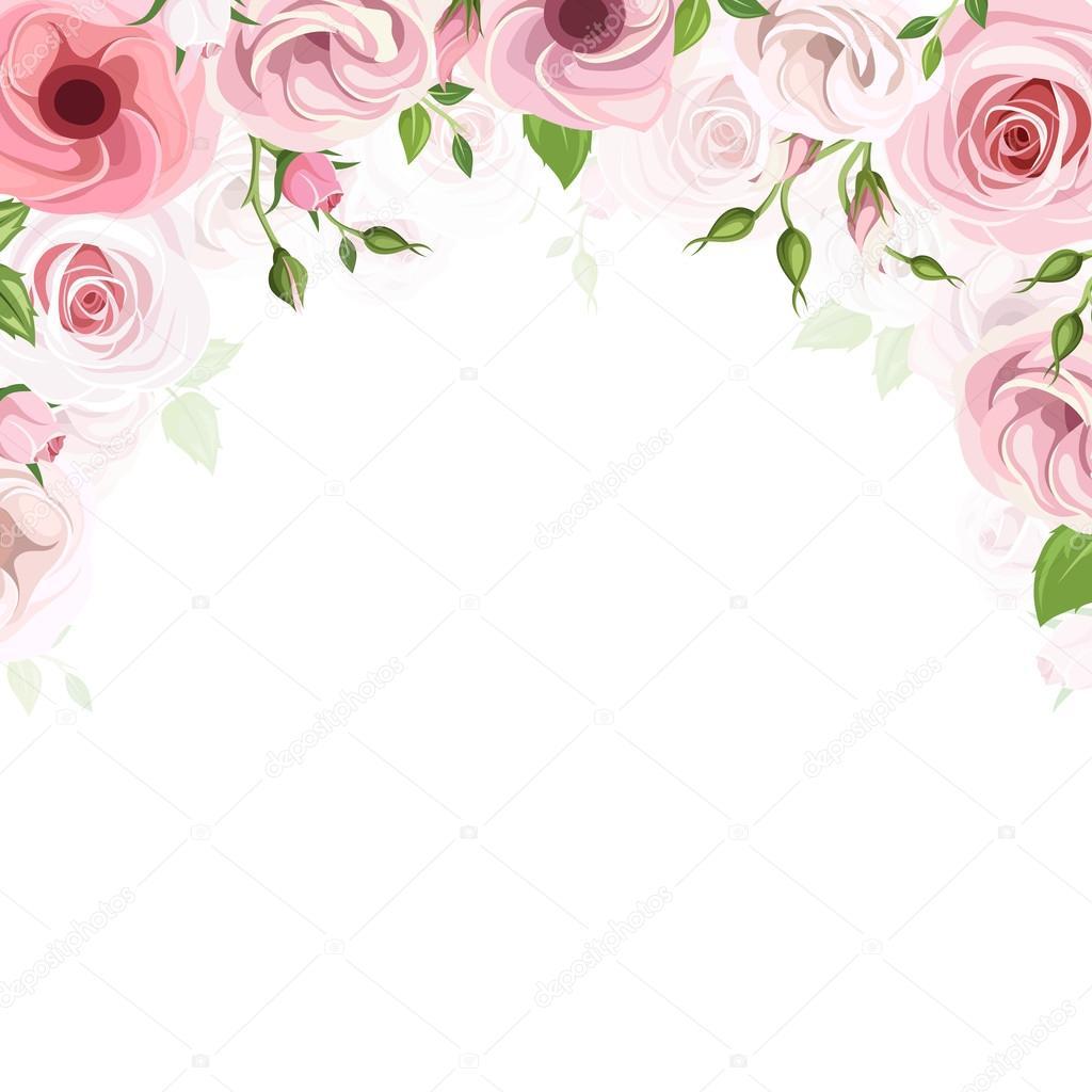 Fotos Flores Rosas Fondo Con Flores Rosas De Rosas Y Lisianthus