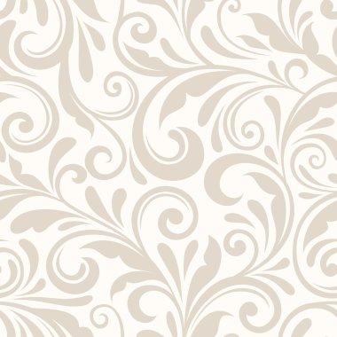 Vector vintage seamless beige floral pattern. stock vector