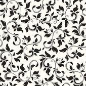 Fényképek Varrat nélküli fekete-fehér virágmintás. Vektoros illusztráció
