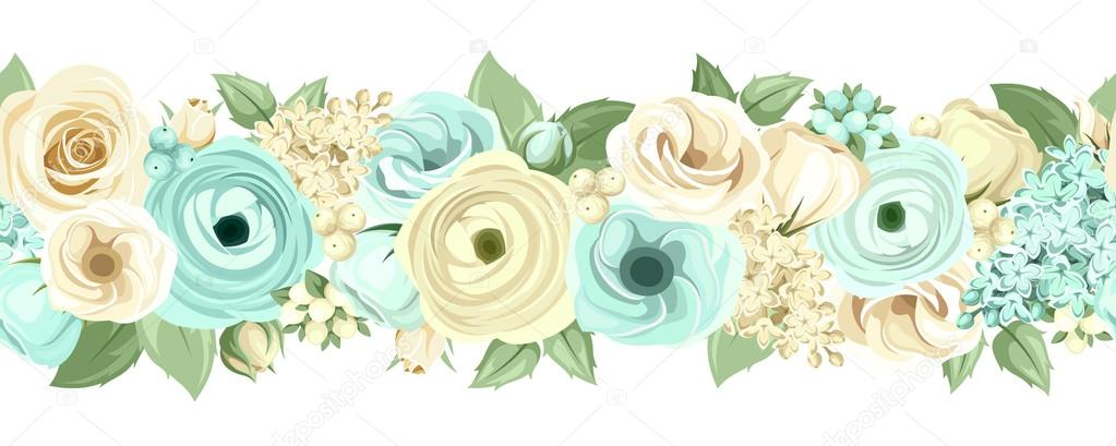 Flores Vectoriales Con Fondo Transparente: Vectores: Flores Verdes Y Azules