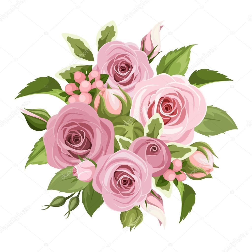 Картинка букет розовых роз