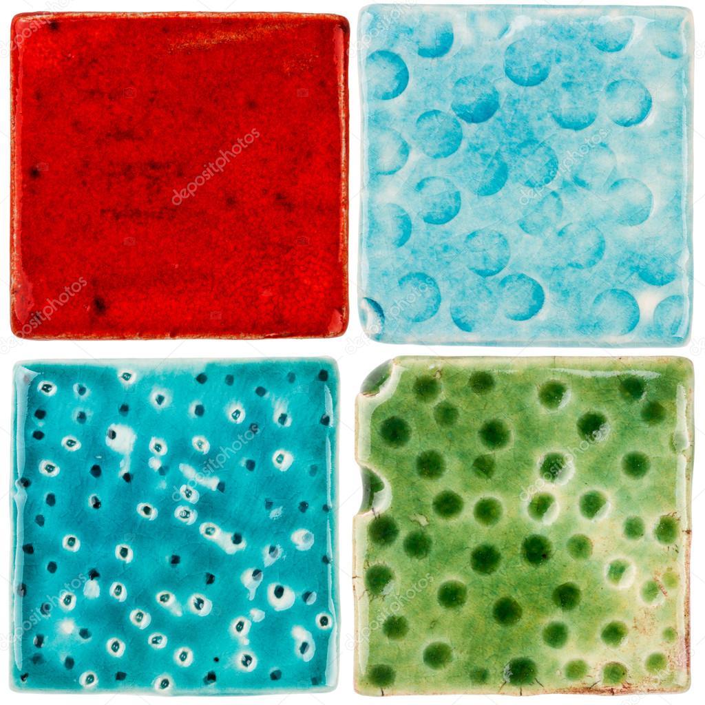 Handmade Ceramic Tiles Stock Photo C Taigi 55781643