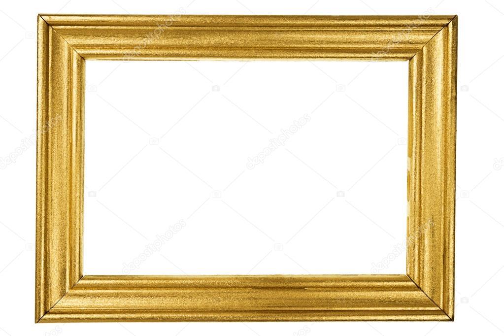 Marco de madera pintado con oro — Foto de stock © Taigi #78426978
