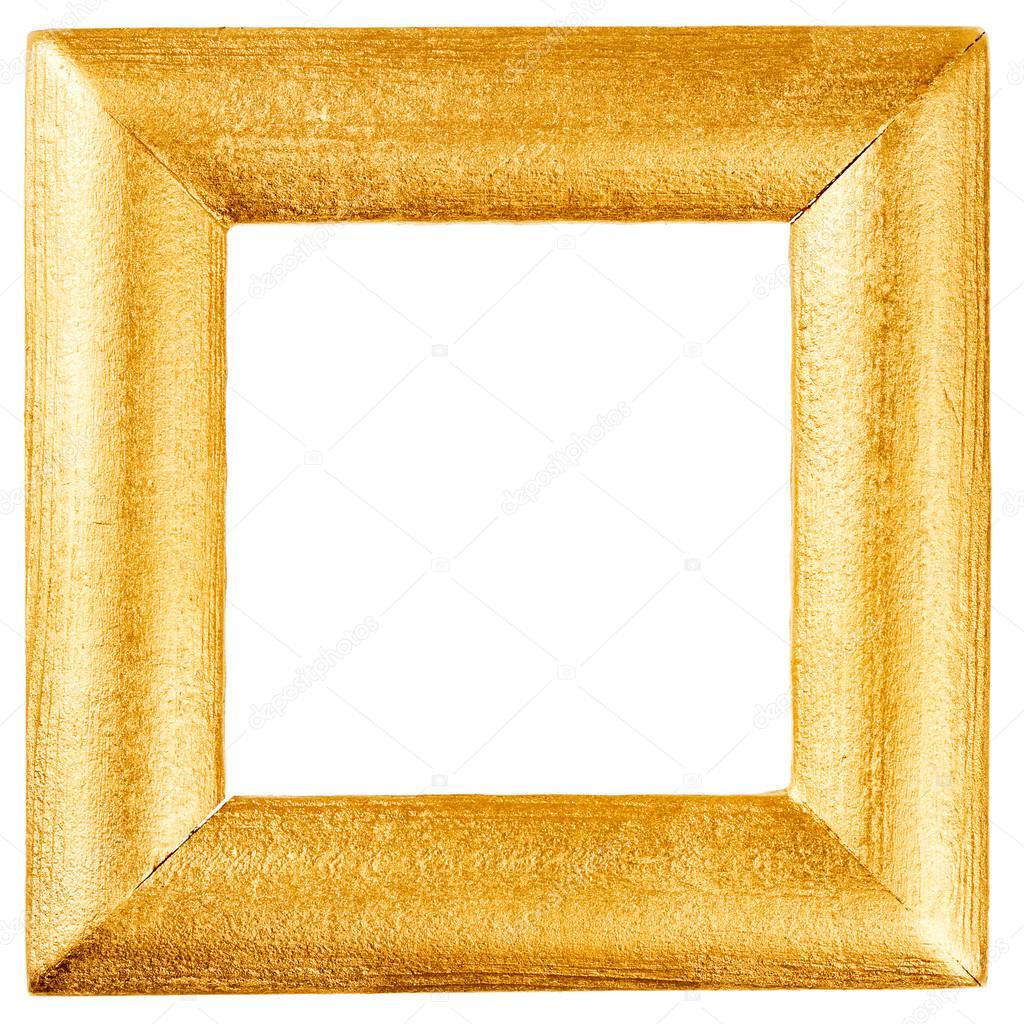 Marco de madera pintado con oro — Fotos de Stock © Taigi #83336566