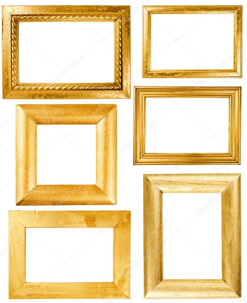 Colección de marcos de madera pintados oro wirh — Fotos de Stock ...