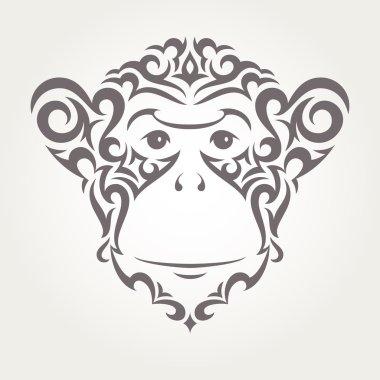 Vector illustration of monkey, symbol of  New Year 2016