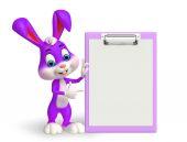 Velikonoční zajíček s Poznámkový blok