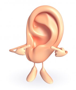 Ear character with pointing pose