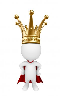 Super white character with crown