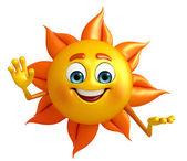 Sun charakter s hello pozice