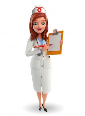 Nurse Character with notepad