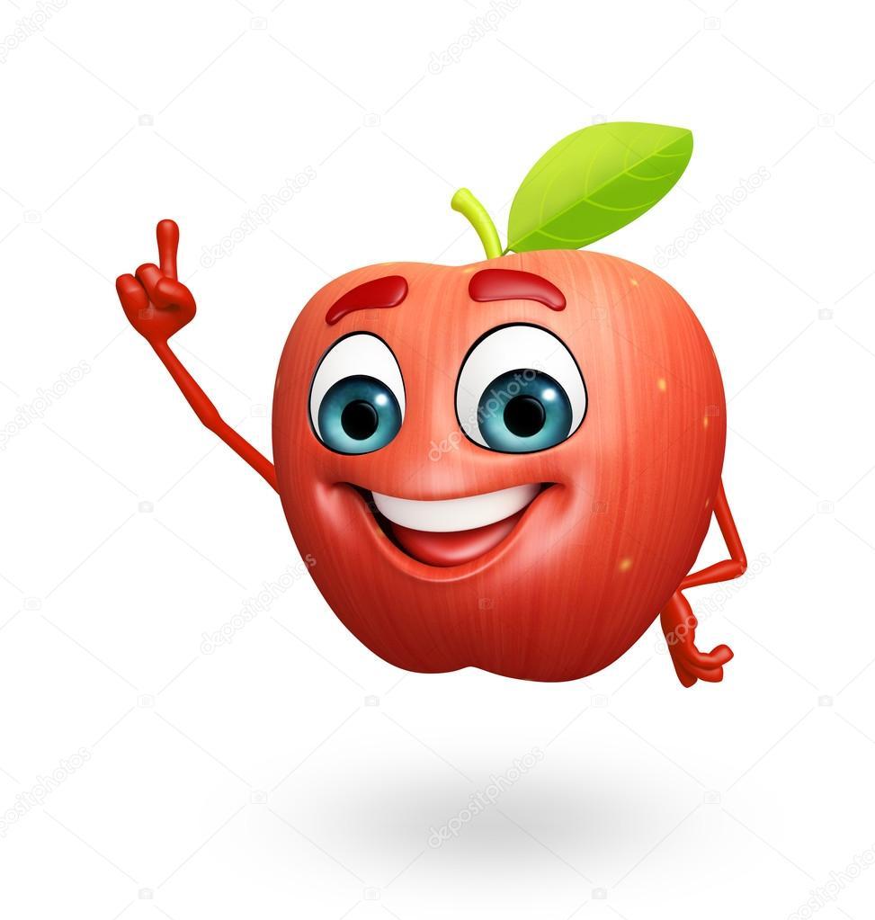 Výsledek obrázku pro jablko kreslené