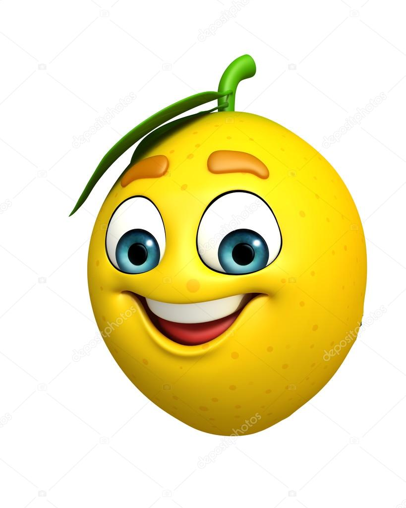 Seriefiguren citron — stockfotografi pixdesign