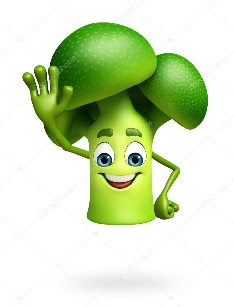 Cartoon character of broccoli fruit — Stock Photo © pixdesign123