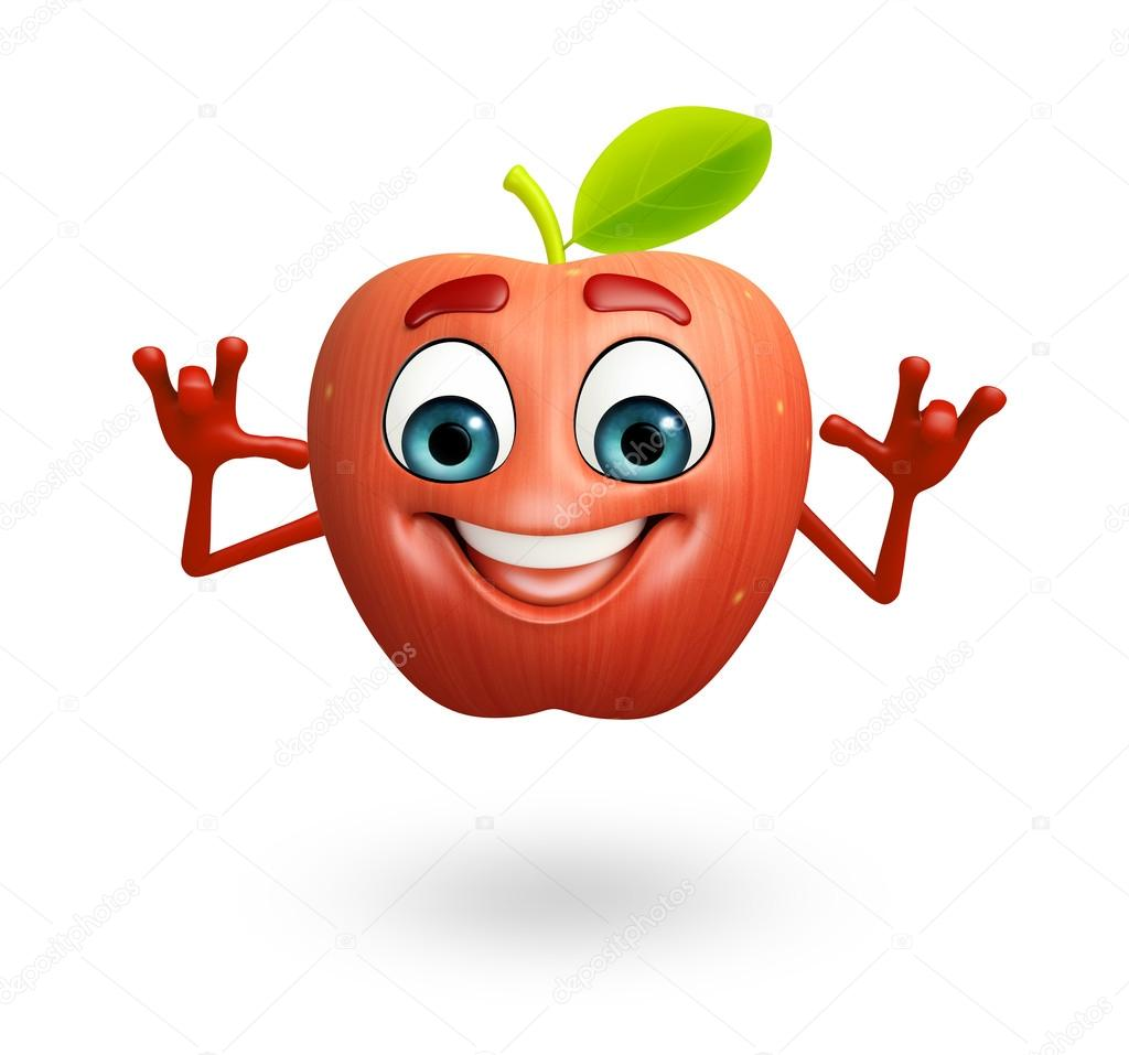 Personaggio dei cartoni animati di frutta mela foto - Immagini dei cartoni animati vegetariani ...