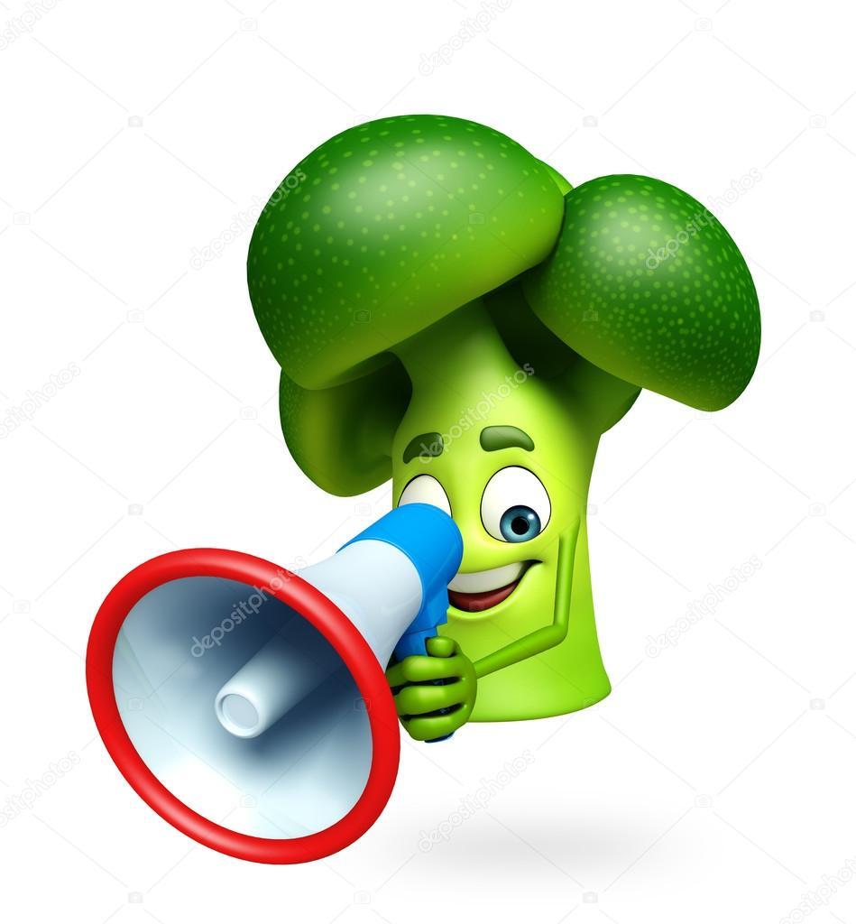 personagem de desenho animado da fruta de brócolis fotografias de
