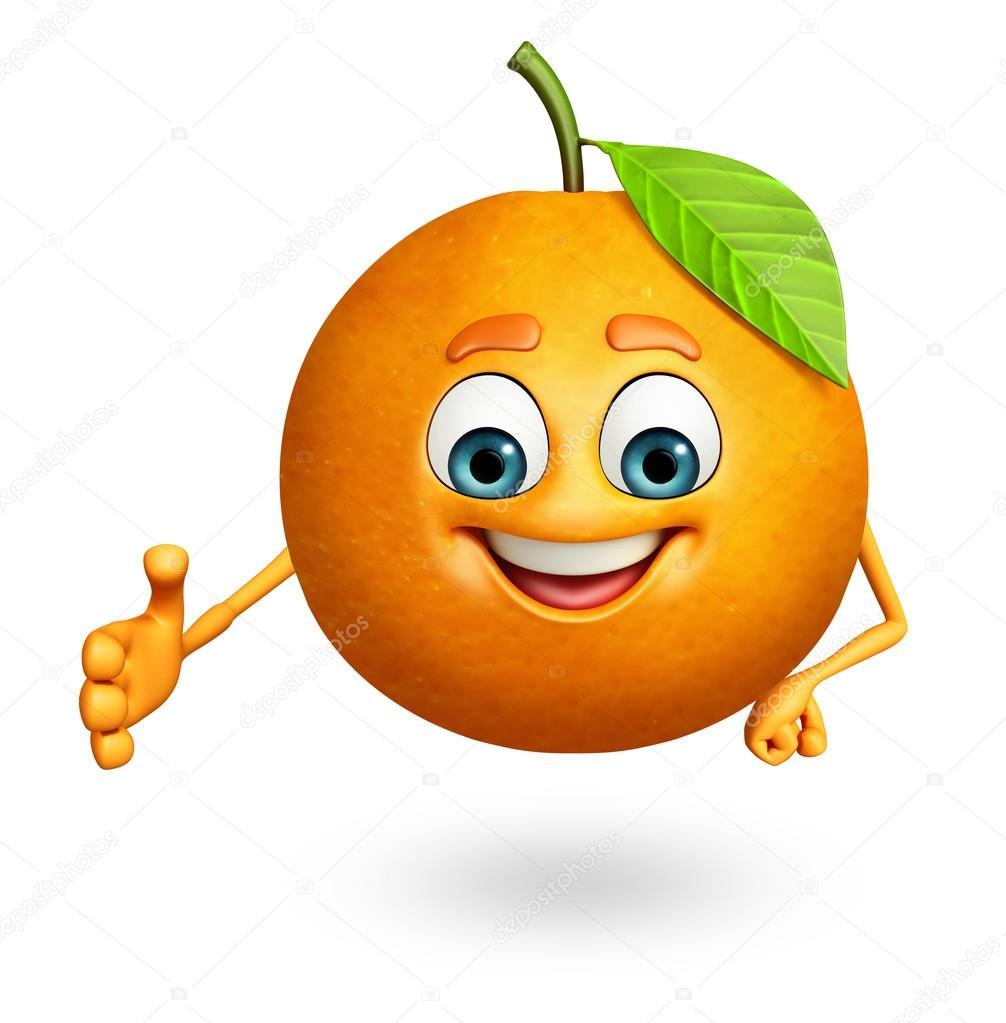 Personnage de dessin anim d 39 orange photographie - Orange dessin ...
