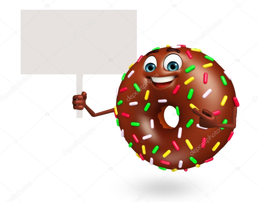Personnage De Dessin Anime De Donuts Photographie Pixdesign123