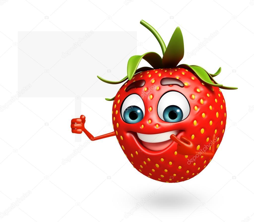 Personnage de dessin anim de fraise photographie pixdesign123 81773700 - Image de dessin anime ...