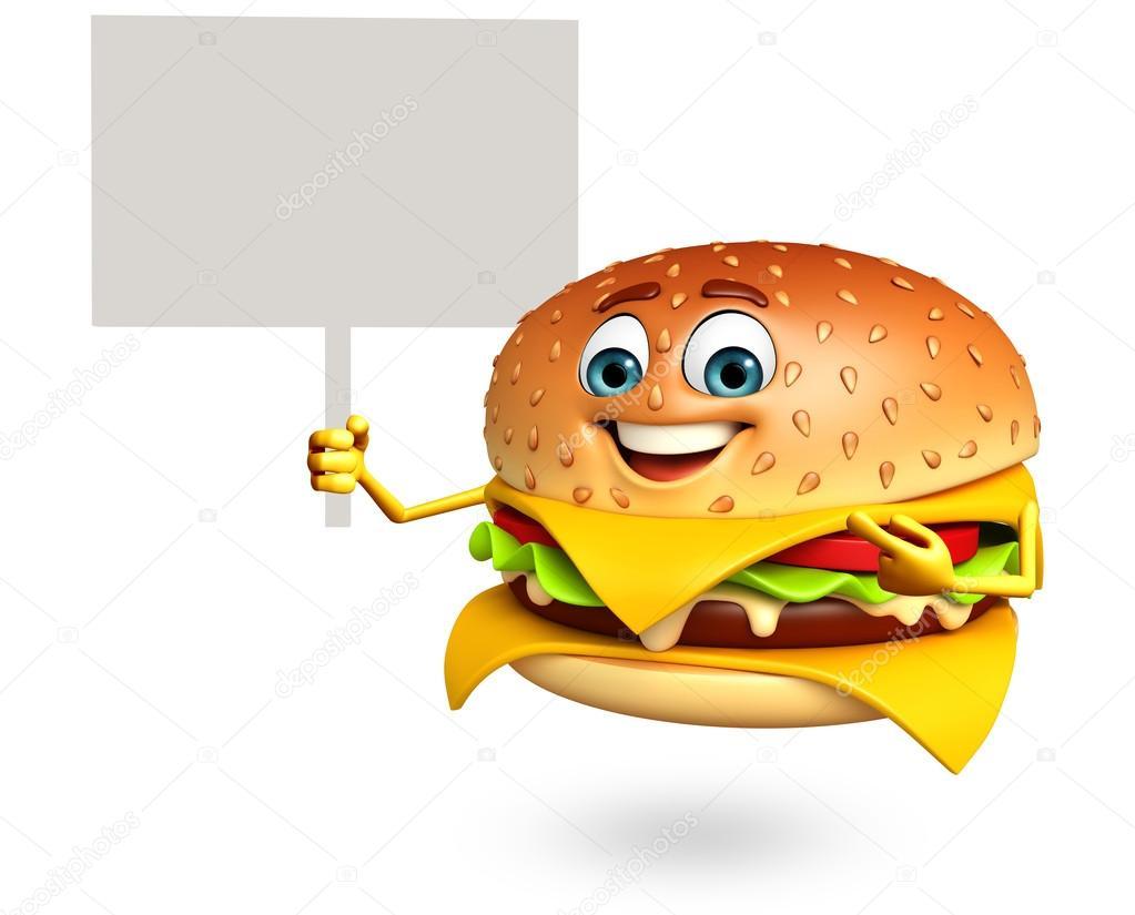 Personaggio dei cartoni animati di burger foto stock - Immagini dei cartoni animati vegetariani ...