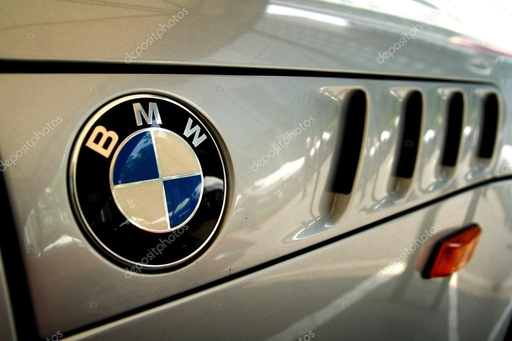 TAGUIG CITY, PHILIPPINES - JUNE 27, 2015: Logo of a BMW car.