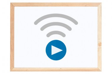 Live Streaming Icon on whiteboard