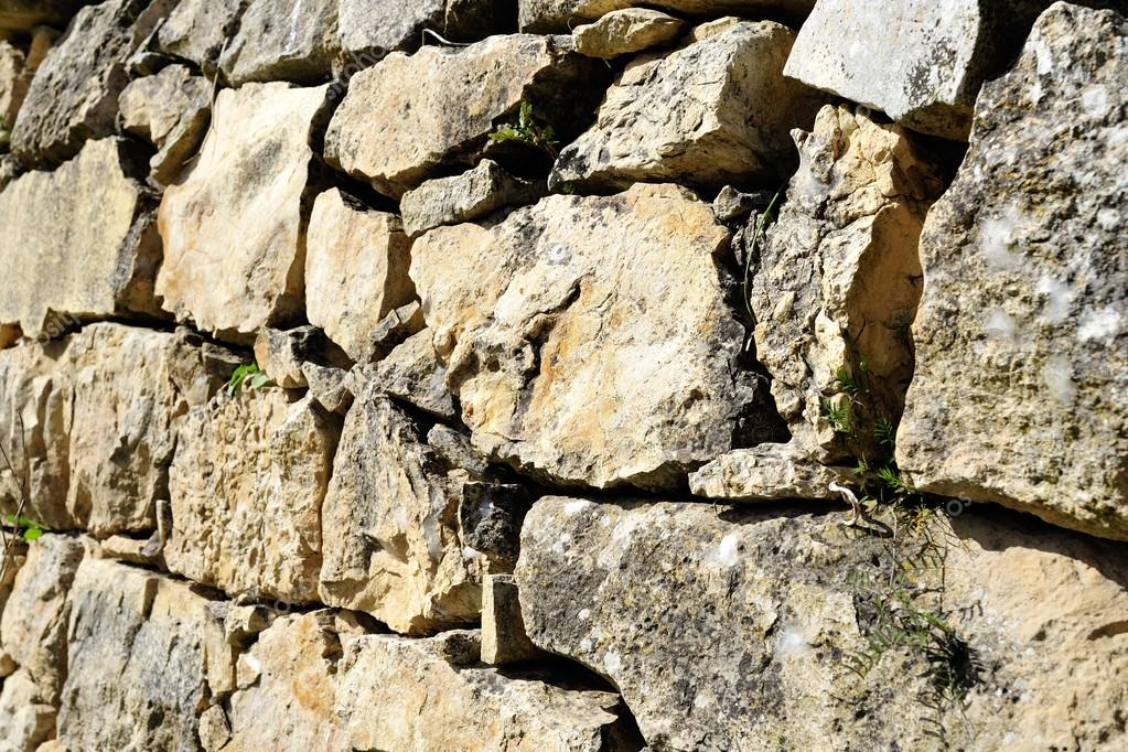 Antiguo Muro De La Terraza De Piedra Foto De Stock