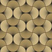 Art deco vzorkem překrývajících se oblouky