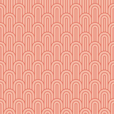 coral pink overlapping arcs