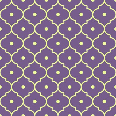 purple quatrefoil pattern