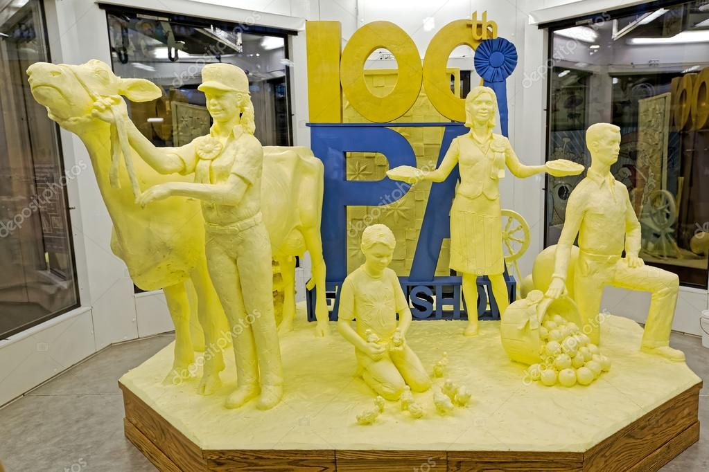 Butter-Skulptur in Harrisburg — Redaktionelles Stockfoto ...