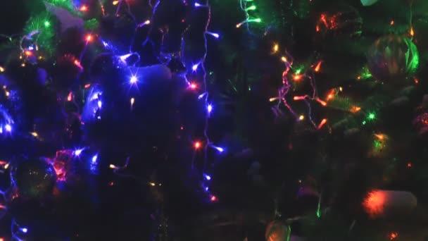 A fény megvilágította a karácsony fa nézet