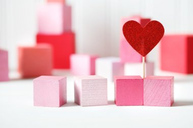 wooden blocks with small heart