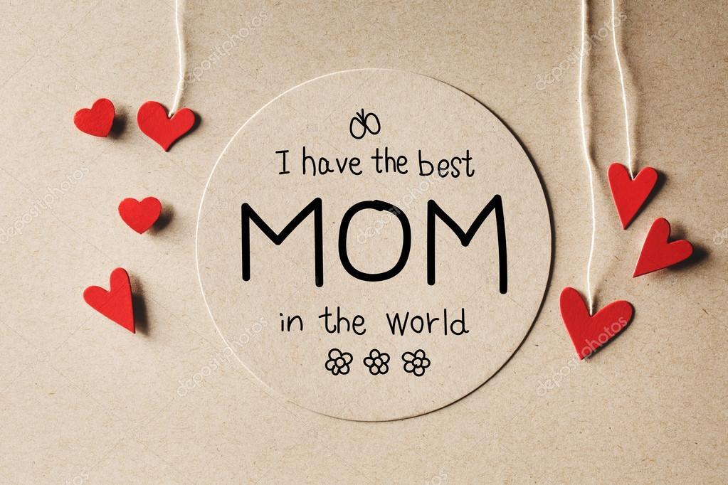 Ich Habe Die Beste Mutter Der Welt Nachricht Mit Kleinen Herzen