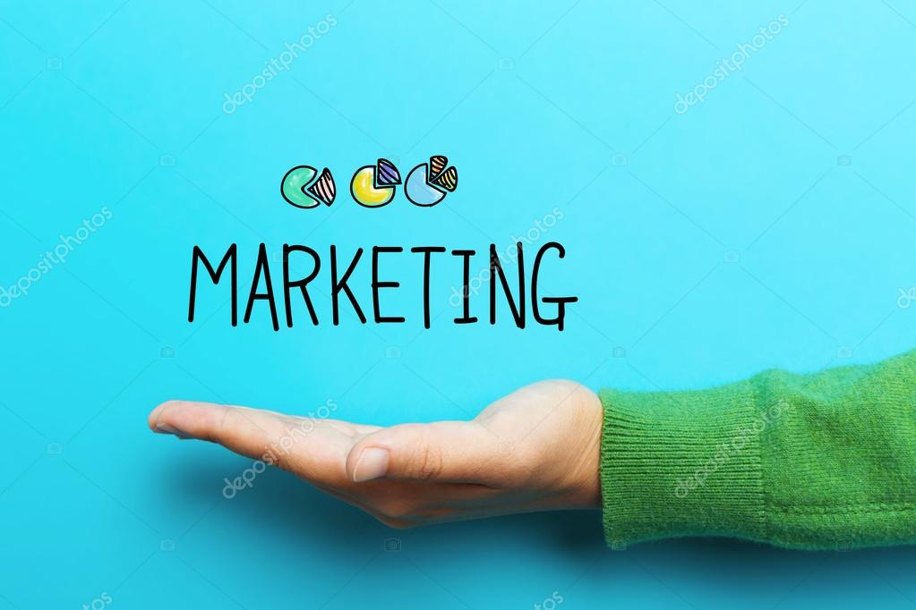 Marketing concept with hand