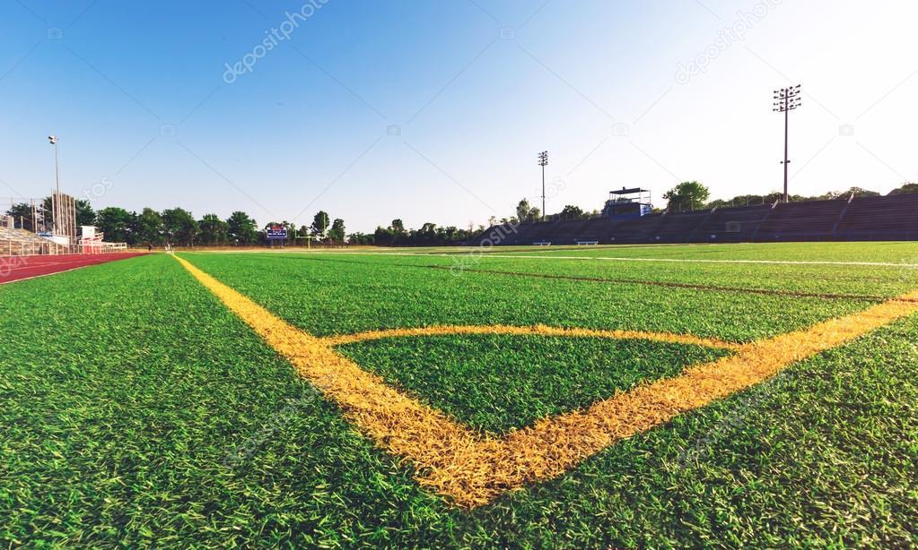 Corner lines on soccer field