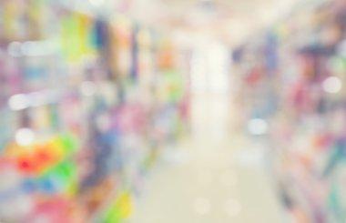 Blurred colorful store interior