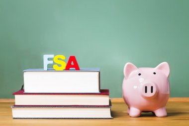 Federal Student Aid theme with textbooks