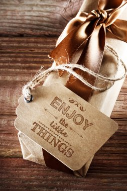 Enjoy The Little Things Message Card