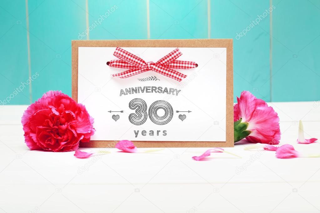 Carte De Message Anniversaire 30 Photographie Melpomene C 82249352