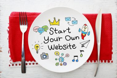 Start Your Own Business concept on plate